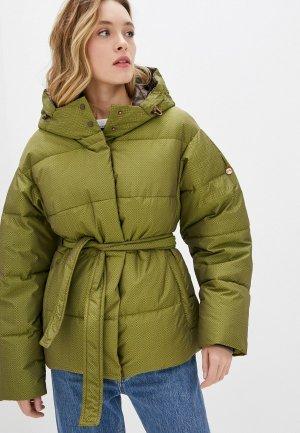 Куртка утепленная Dimma. Цвет: зеленый