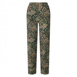 Шелковые брюки No. 21. Цвет: разноцветный