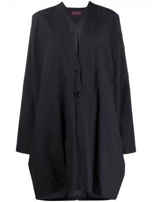 Пальто свободного кроя 1990-х годов Romeo Gigli Pre-Owned. Цвет: черный