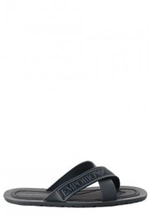 Сланцы EMPORIO ARMANI. Цвет: черный