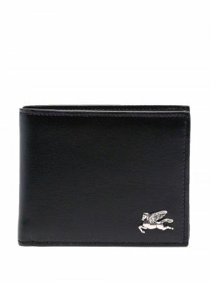 Бумажник с логотипом ETRO. Цвет: черный