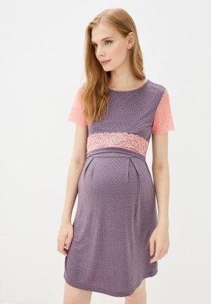 Платье домашнее Fest П11509А. Цвет: фиолетовый