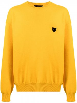 Пуловер с нашивкой-логотипом ZZERO BY SONGZIO. Цвет: желтый