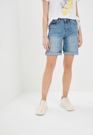 Шорты джинсовые Savage. Цвет: голубой