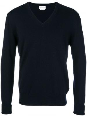 V-neck knitted sweatshirt Ballantyne. Цвет: синий