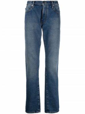 Зауженные джинсы кроя слим Off-White. Цвет: синий