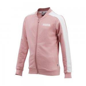 Детская олимпийка Contrast FZ Jacket TR G PUMA. Цвет: розовый