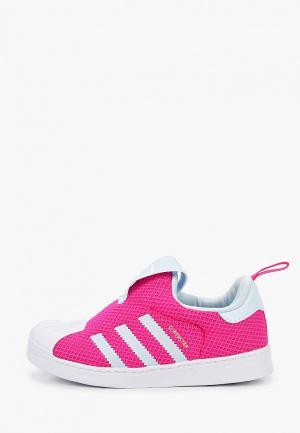 Слипоны adidas Originals SUPERSTAR 360 I. Цвет: розовый