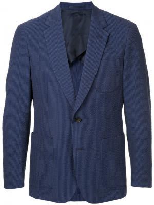 Formal fitted blazer Gieves & Hawkes. Цвет: синий