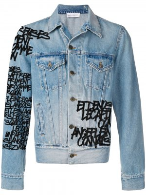 Кастомизируемая джинсовая куртка Faith Connexion. Цвет: синий