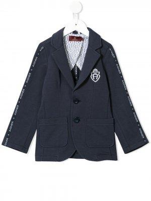 Пиджак с вышитым логотипом Aigner Kids. Цвет: синий