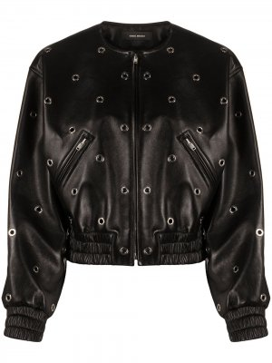Eyelet detailed lambskin jacket Isabel Marant. Цвет: черный