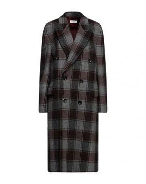 Пальто DRIES VAN NOTEN. Цвет: серый