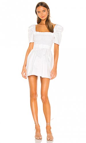 Мини платье marisol Amanda Uprichard. Цвет: белый