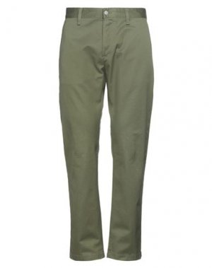Повседневные брюки EDWIN. Цвет: зеленый-милитари