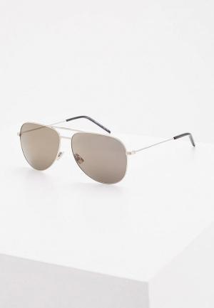 Очки солнцезащитные Saint Laurent CLASSIC 11027. Цвет: серебряный