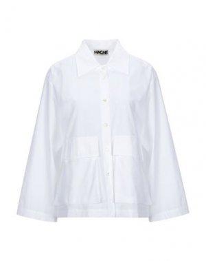 Pубашка HACHE. Цвет: белый