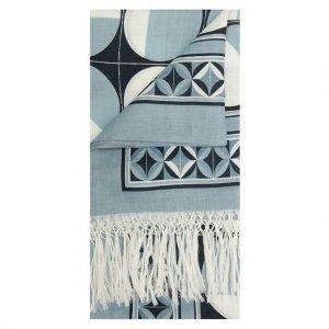 Льняное полотенце Dolce & Gabbana. Цвет: синий