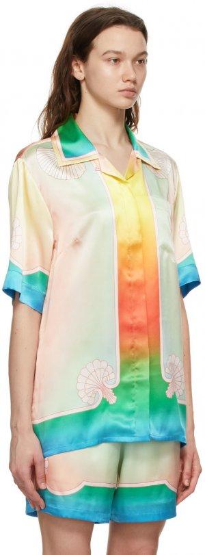 Pink & Beige Kapalia Short Sleeve Shirt Casablanca. Цвет: pink