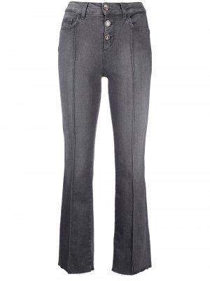 Укороченные джинсы с завышенной талией LIU JO. Цвет: серый