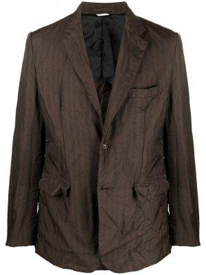 Однобортный пиджак с жатым эффектом Comme Des Garçons Homme Deux. Цвет: коричневый