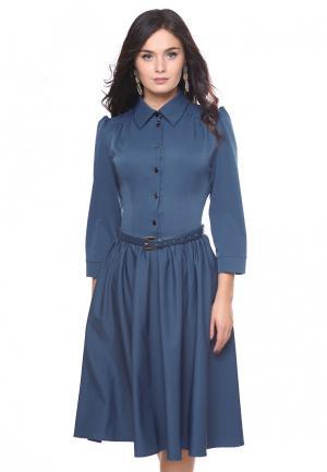 Платье Grey Cat MP002XW1ATQG. Цвет: синий