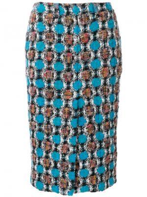 Твидовая юбка Marni. Цвет: разноцветный