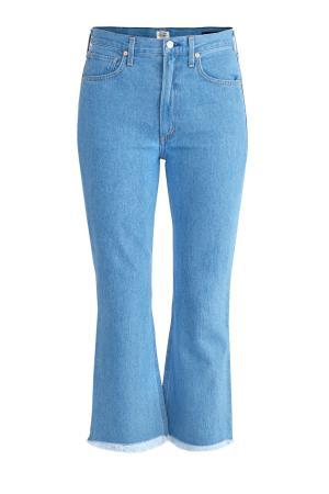 Джинсы в винтажном стиле расклешенного от колена кроя CITIZENS OF HUMANITY. Цвет: голубой
