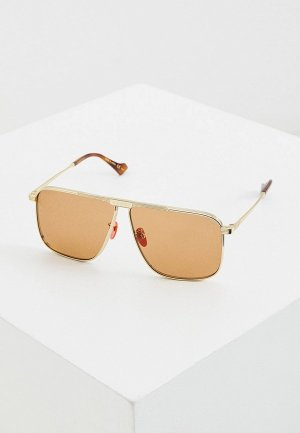 Очки солнцезащитные Gucci GG0840S. Цвет: золотой