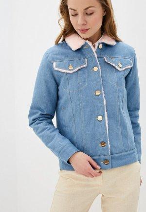 Куртка джинсовая Dasti Denim Urban. Цвет: синий