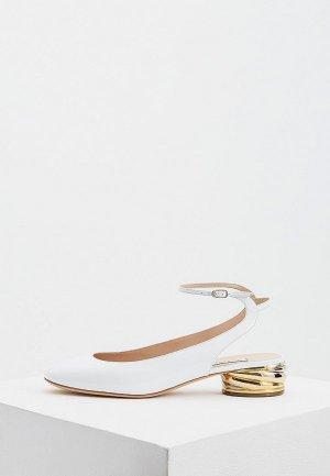 Туфли Casadei. Цвет: белый