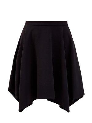 Асимметричная юбка-мини с прорезными карманами STELLA McCARTNEY. Цвет: черный