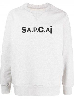 Толстовка из коллаборации с Sacai A.P.C.. Цвет: серый