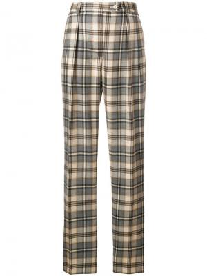 High waist checked trousers Alberta Ferretti