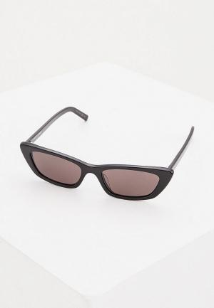 Очки солнцезащитные Saint Laurent SL 277 001. Цвет: черный