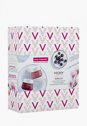 Набор для ухода за лицом Vichy Дневной крем 50мл + ночной косметичка органайзер в ПОДАРОК. Цвет: прозрачный