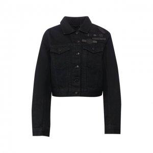 Джинсовая куртка Black Label Harley-Davidson. Цвет: чёрный