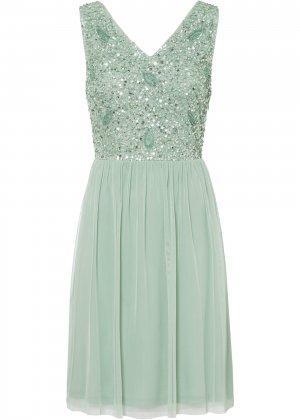 Платье bonprix. Цвет: зеленый