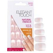 Накладные ногти средней длины с французским маникюром Natural French Nails — 103 (M) (Pink) (Fade Tip) Elegant Touch