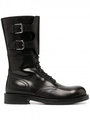 Ботинки в стиле милитари Dolce & Gabbana. Цвет: черный