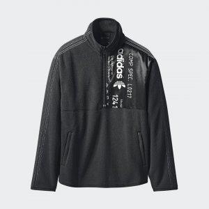 Флисовая толстовка Originals by AW Half Zip adidas. Цвет: черный
