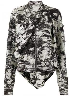 Куртка бомбер Swoop Rick Owens. Цвет: черный