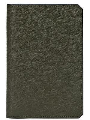 Обложка для паспорта VALEXTRA. Цвет: хаки