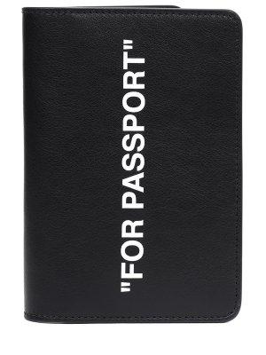 Обложка для паспорта кожаная OFF-WHITE