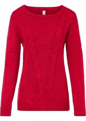 Пуловер bonprix. Цвет: красный