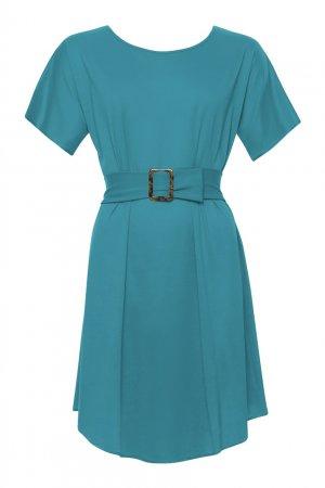 Туника бирюзового цвета Outfit ERES. Цвет: бирюзовый