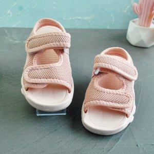 Спортивные сандалии на липучке для девочек SHEIN. Цвет: розовые