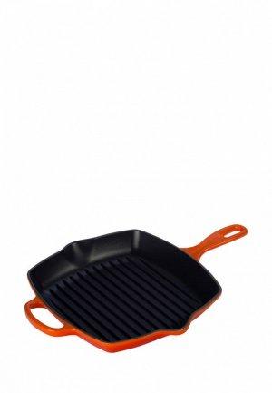 Сковорода Le Creuset гриль, 26 см. Цвет: оранжевый