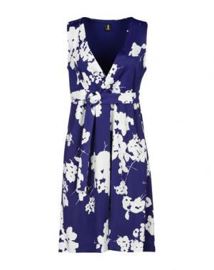 Короткое платье 1-ONE. Цвет: синий