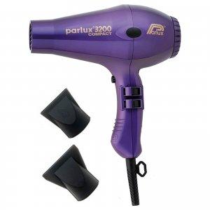 Компактный фен для волос 3200 Compact Hair Dryer - Purple Parlux
